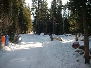 Brighton cabin photo - Our street in winter. Four wheel drive or all wheel drive strongly recommended.