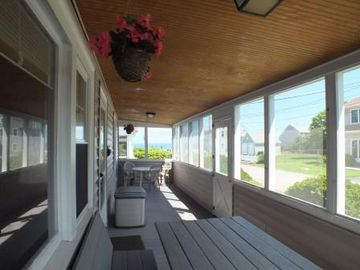 Full length view of front porch.