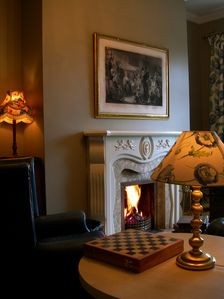 Connemara villa rental - Turf fire in the television room