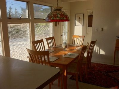 Separate dining room directly off kitchen.  Bright and clean.