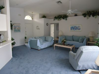 Very spacious lounge area
