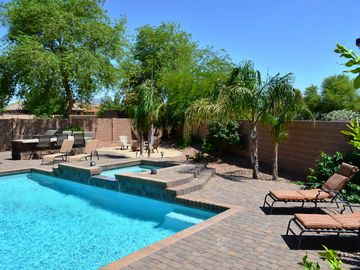 Chandler house rental - Plenty of room to lounge around the pool and spa