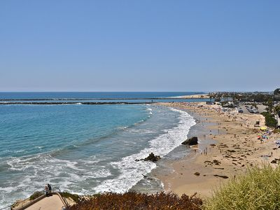 A one block walk to the beautiful beach in Corona Del Mar