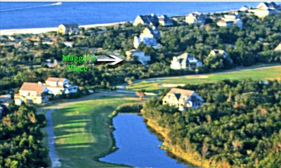 Ariel View of Maggie's Place Close to both Golf and The Beach