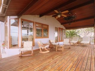 Bahia Gigante villa photo - Outdoor fans add to the ocean breeze and shade for the perfect cocktail hour!