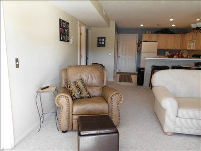 Osage Beach condo rental - Recliner with footstool to sit back and enjoy the view