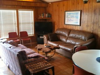 Surfside Beach cottage photo - 42 inch Satellite TV and DVD player in the living room