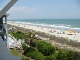 Surfside Beach condo photo - View from your balcony looking north at the Surfside Pier