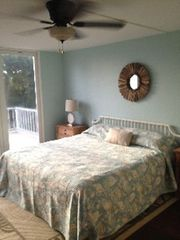 Sanibel Island condo photo - Master bedroom with private balcony and king size bed.