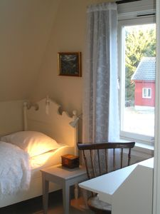 Aust-Agder farmhouse rental - Bedroom with two single beds