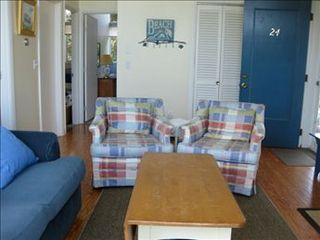 Eastham house photo - Another view of the beautiful beach decor in the family room.