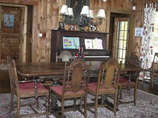 Acton lodge photo - Dining room table and piano