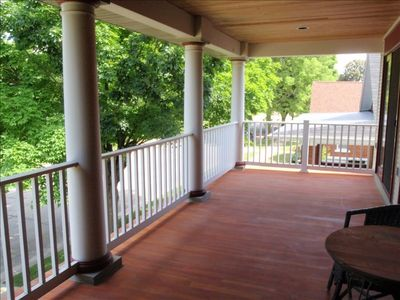 Spacious upper veranda outside of Master Suite