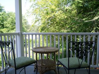 Asheville apartment photo - Deck overlooks owner's garden.
