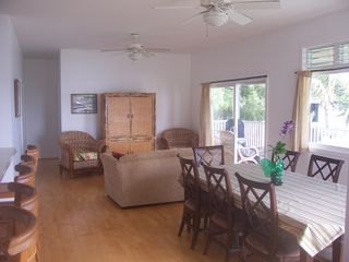 Waimanalo house photo - Spacious Upstairs Living & Dining Areas. Beautiful Ocean View.