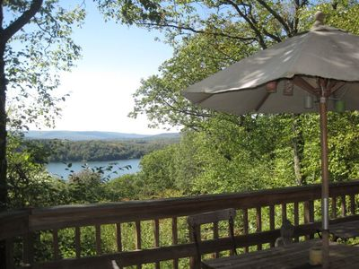 dine Al fresco with wonderful views of Lake Garfield and the Berkshires!