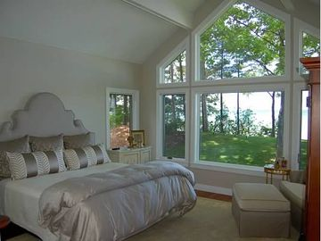 sun dappled master bedroom is beyond king-sized!