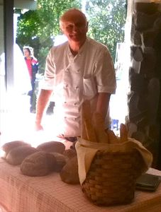 Mort 'The Rye Guy' brings his artisan breads to the Tuesday morning market.