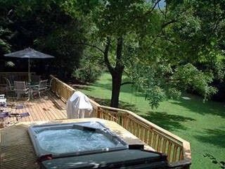 Asheville cottage rental - Hot Tub, deck, and private front yard