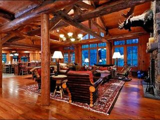 Ketchum house photo - Rustic, Upscale Living Room with High Ceilings