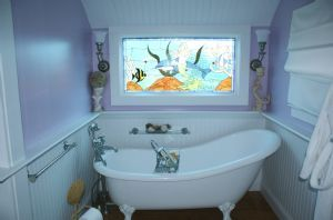 MasterBath with clawfoot tub