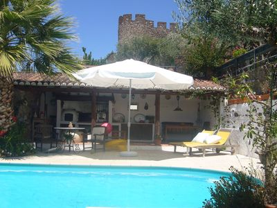 Villa with heated outdoor pool and spacious leisure areas