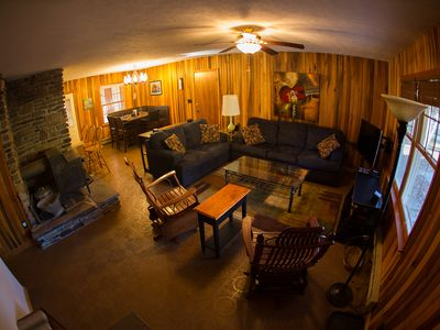 Elkins house rental - Fine and comfortable furnishings, LED TV, satellite, blu-ray, cozy wood paneling