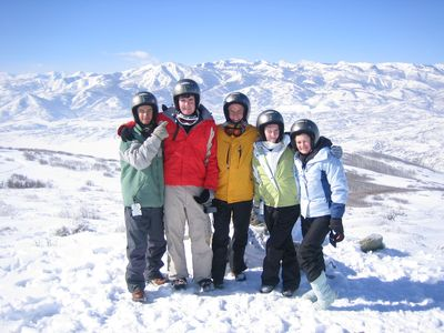 Snowmobiling offers a scenic view of Deer Valley. It's a a great sport for all.