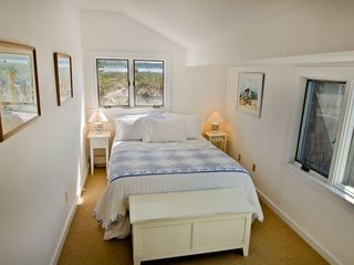 Vineyard Haven cottage photo - Bedroom #1 - Has Queen Bed, Enjoys Water Views To Lake Tashmoo & Vineyard Sound