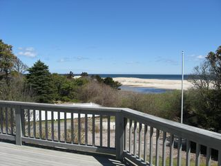 Orleans house photo - View of the beach from the deck.