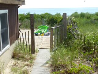 Point Pleasant Beach house photo - Gate to private fenced yard and beach