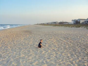 Kure Beach early evening in June.