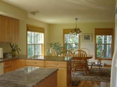 Kitchen Dining Area with Granite Counters