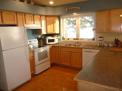 Oak Harbor house rental - Well-supplied Kitchen with Modern Amenities, High Quality Cookware.