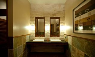 Lahaina condo photo - The bathrooms in the pavilion are beautifully designed with natural stone