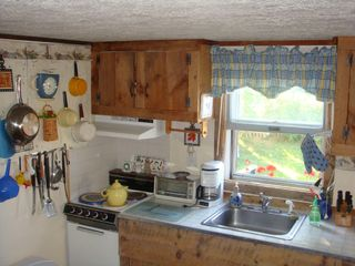 Biddeford cottage photo - Kitchen w/full sized fridge, elec stove, microwave & Keurig Coffee Maker!