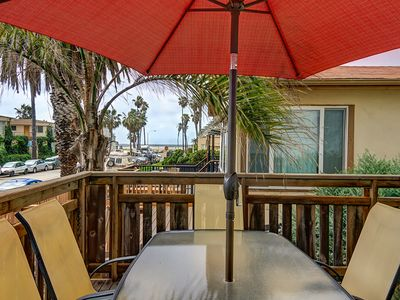 Dine Outdoors with a view of the Beach - Dine outdoors on the front deck with a beach view