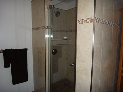 Lots of room in large shower