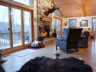 Pine Lake lodge photo - Upper Level Family Room in Winter