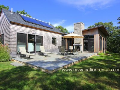 West Tisbury house rental - Yard, Patio and Outdoor Fireplace