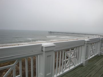 Oceanfront view from lower level balcony!