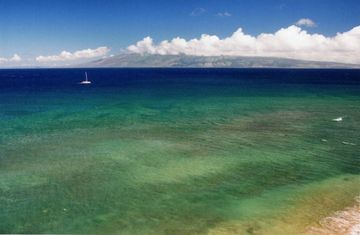 View from the Lanai of Island of Molokai to the North