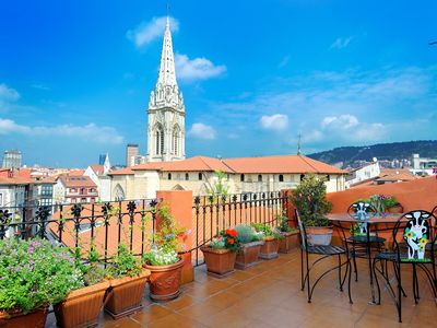 Apartment/ flat - Bilbao with a wonderful terrace front the Cathedral of Bilbao