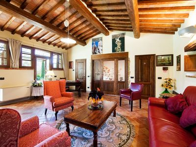 Cortona apartment rental - Fontanella living room