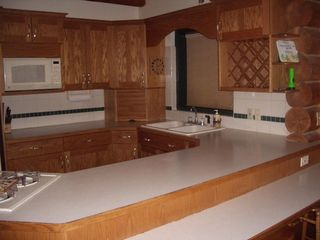 Heber City cabin photo - A full stocked kitchen with a convection oven.