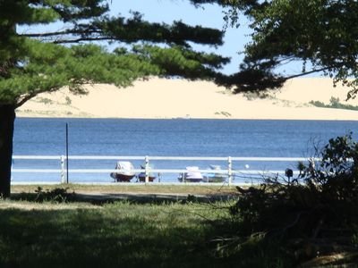 Silver Lake cottage rental - View from the side deck