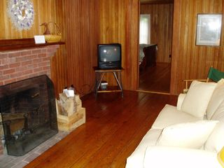 Seal Cove cottage photo - TV room with digital cable and wireless internet