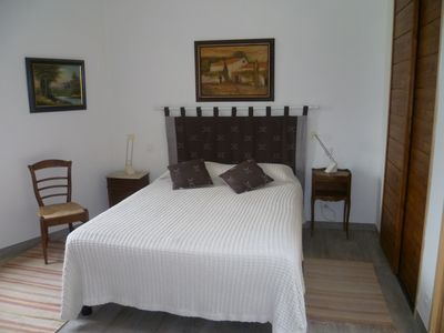 Vaison-la-Romaine condo rental - Second bedroom; large closet on right. Has TV and ensuite bathroom & shower.