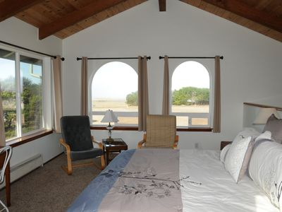 Spacious Master Suite with ocean views (this view is of the second story)