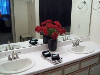 Branson condo photo - Master Bath - his/her sinks - jacuzzi tub/shower